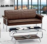 주식에 있는 금속 프레임 두 배 방석 소파를 가진 대중적인 현대 디자인 호텔 로비 소파 사무실 가죽 소파
