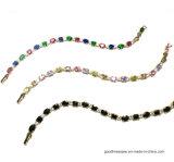 색깔 원석 925 짜개진 조각 팔찌 (BT6662)