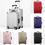 Equipaje del magnesio del nuevo diseño 2017 y maleta de aluminio de la carretilla
