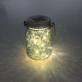 Azul oscuro de mercurio acabado de hadas de verano solar LED luz del tarro