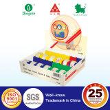 전시 상자에 있는 4개의 색깔 분배기를 가진 Sellotape
