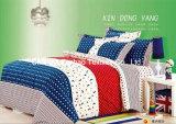 Hoja de cubierta determinada material de base del lecho moderno de la colcha de la tela del algodón que acolcha