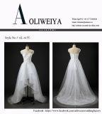 Оптовое реальное платье венчания образца с коротким фронтом