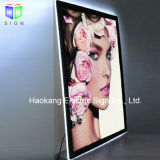 Frameless 그림 광고를 위한 수정같은 프레임 표시를 가진 호리호리한 아크릴 LED 자석 가벼운 상자