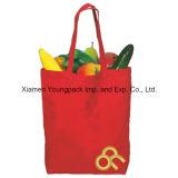 Sacola reutilizável promocional de compras de mantimentos de lona orgânica importada