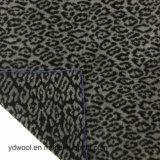 Existencias de la tela de las lanas del telar jacquar de la impresión del leopardo
