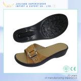 PUの甲革が付いているウェッジのエヴァのスライドのスリッパのサンダル、女性の履物の靴