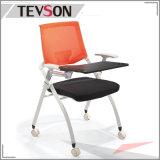 Schule-Kursteilnehmer-unveränderliches Metallfaltbarer Sitzungs-Konferenz-Stuhl mit Schreibens-Platte