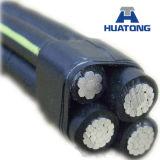 cabo Twisted do ABC do alumínio do fio de gota do serviço de 1/0AWG 2/0AWG 4/0AWG