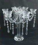 De Houder van de Kaars van het kristal met Zeven Affiches voor de Decoratie van het Huis