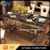 金属の家具の現代ダイニングテーブル
