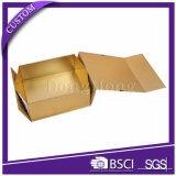 Oro de cartón plegable de papel Caja de lujo de regalo con la cinta Negro