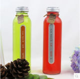 quadratische Glasflaschen 350ml für Getränk, trinkender Saft, Wasser-Flaschen