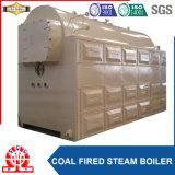 Charbon industriel et chaudière à vapeur allumée par bois avec l'économiseur