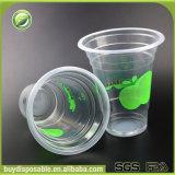 Copos plásticos descartáveis do gelado dos PP com tampas da abóbada