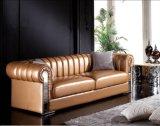 Moderno Big Apartment Sala de estar secional sofá Sofá de couro