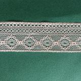 Estiramento novo do laço do aparamento do projeto do Crochet off-White elegante