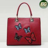 Nuovo sacchetto di spalla del Tote di modo delle borse delle signore di stile con il distintivo Sy8063 della farfalla del ricamo