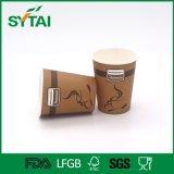 Tazza di carta del caffè a gettare rivestito a parete semplice del PE di molti formati