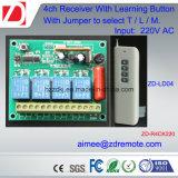 interruptor de controle remoto 220V/12V/24V de 4channel 1000m RF