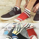 Form-trifft gestreifte Mann-Baumwolle beiläufige Sport-Baumwollsocken hart