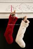 Шикарное 100% акриловое Handmade украшение чулка рождества Knit