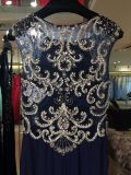 Navy Long Evening Dress, Gown Party, Wedding Draw up