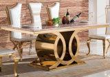 Tabella pranzante del marmo di Seater di disegno moderno 8