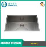 Prezzo interessante NS-2801 304 singola Ciotola in acciaio inox a mano Kitchen Sink