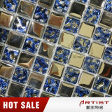 Color Azul del cristal de mosaico Técnica Placa de Metal Mosaico de cristal