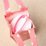 Les configurations de points blanches imperméabilisent le sac à main de rose de toile de PVC (W001)