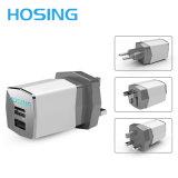 Chargeur à double accès de bonne qualité populaire de course de la marque de distributeur 5V 2.1A/3.1A USB de la tendance la plus neuve