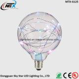 Microfone de corda microfone de fumaça de cobre lâmpada nova moderna de vitrais E27 lâmpada pintada artificial de LED