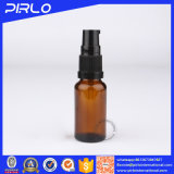 frasco de petróleo ambarino de 30ml Essentical com o frasco de vidro de Whosale do pulverizador preto da névoa