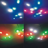 Luz do efeito do feixe dos olhos de RGBW 8 com motor movente