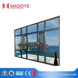 Алюминиевый двойной Casement Windows матированного стекла