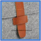 Einfacher Entwurfs-Wollen geglaubte bewegliche kleine Speicher-Handtasche, Förderung-Geschenk-Umschlag-Form-kosmetischer Beutel/Beutel