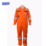Vêtements de travail protecteurs globaux oranges de vêtements de fonctionnement de combinaison