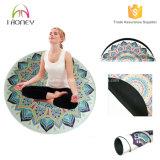 Cómodo hermoso de Eco impreso alrededor de la estera de la yoga. Diseñado para la yoga, meditación