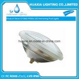 RGB, azul, blanco fresco LED PAR56 lámpara subacuática para la piscina