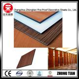 FormicaのHPLによって薄板にされる壁パネル