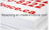 1220*2440mm*4mmcorona traités imperméabilisent/blancs opaques solides réutilisables de feuille en plastique de la feuille ridés par pp/pp Coroplast pour le Signage d'impression