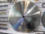 El registro grande del acero inoxidable vio las láminas del disco el cortar del papel