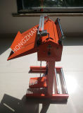 Máquina do aferidor do pedal com o rolo do cortador e da película