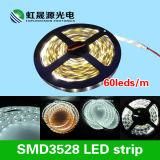 Luz de tira 60LEDs/M do diodo emissor de luz da Quente-Venda SMD3528 para a iluminação decorativa