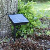 100 indicatore luminoso leggiadramente esterno alimentato solare caldo della stringa dell'indicatore luminoso bianco LED