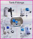 Densité de porcelaine vidant la toilette en deux pièces bleu-clair vidante duelle de nettoyage d'individu