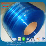 標準透過ID青いPVCストリップのカーテンロール200mm幅