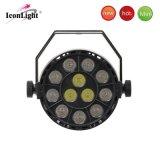 실내 사용을%s 도매 12X1w RGBW LED 편평한 동위 빛