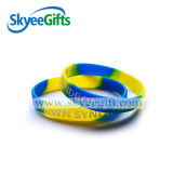 Wristband del silicone di colore di Customi Swril